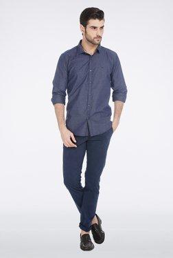 Basics Navy Slim Fit Shirt