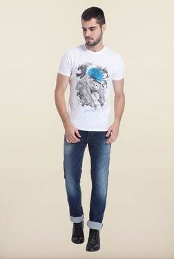 Jack & Jones White Casual Slim Fit T-Shirt - Mp000000000048242