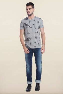 Jack & Jones Light Grey Crew Neck T-Shirt