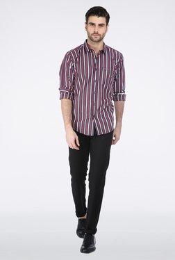 Basics Black Flat Front Trouser
