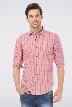 Basics Pink Slim Fit Formal Shirt