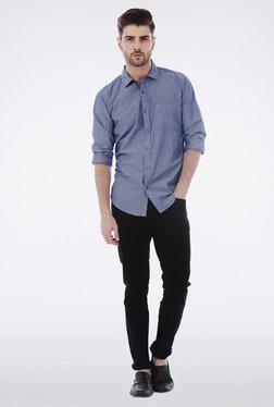 Basics Navy Chambray Cotton Shirt