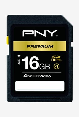 PNY 16 GB P-SDHC16G4H-GE Memory Card Black