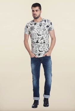 Jack & Jones Off White Crew Neck T-Shirt