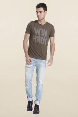 Jack & Jones Raven Textured Crew Neck T-Shirt