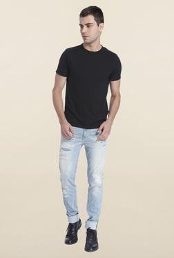 Jack & Jones Black Slim Fit Solid T-Shirt