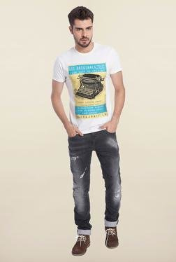 Jack & Jones White Vintage Graphic Print T-Shirt