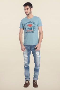 Jack & Jones Light Blue Crew Neck T-Shirt