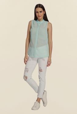Vero Moda Canal Blue Solid Shirt