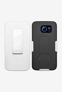Amzer Shellster Case with Kickstand for S6 (White & Black)