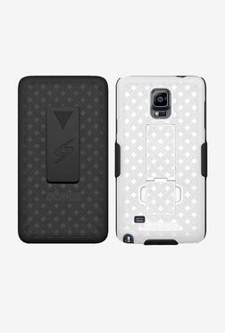 Amzer Shellster Case with Kickstand for Note 4 (Black/White)