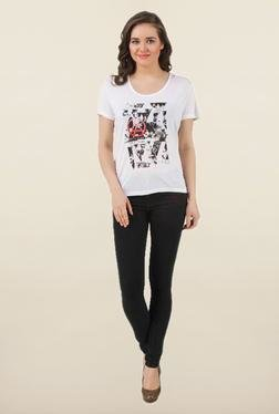Linkin Park White Printed Top