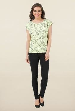 The Simpsons Lime Green Printed Top