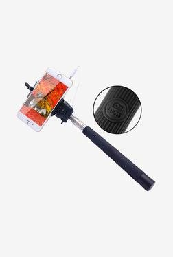 Callmate SSACBK Selfie Stick With Aux Cable (Black)
