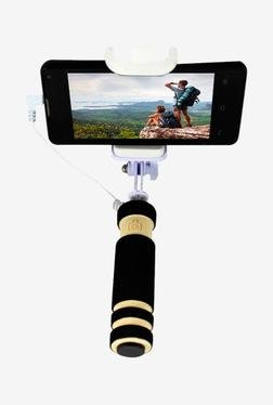 Callmate MFSSAUXCBK Mini Selfie Stick with Aux Cable (Black)