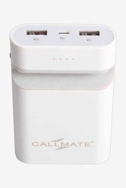 Callmate Mobile Holder 7800 MAh Power Bank (White)