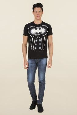 Batman Black Printed Cotton T-Shirt