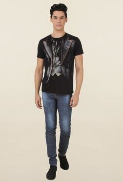 Joker Black Printed T Shirt