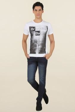 Breaking Bad White Printed T-Shirt