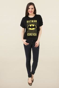 Batgirl Black Printed Top