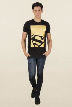 Superman Black Crew Neck T-Shirt
