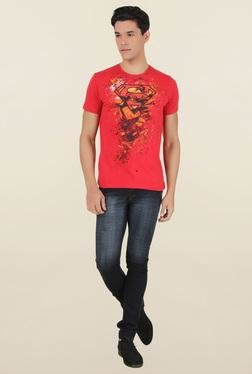 Superman Red Crew Neck T-Shirt