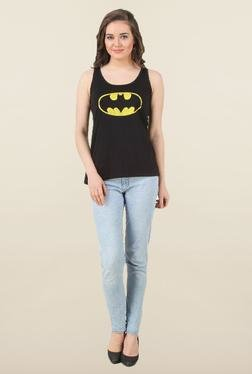 Batgirl Black Cotton Tank Top