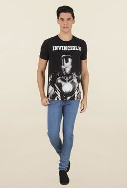 Iron Man Black Cotton T-Shirt