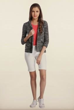 Only Black Printed Casual Blazer