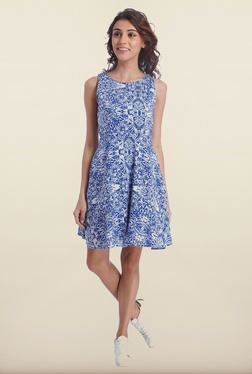 Only Blue Printed Skater Dress