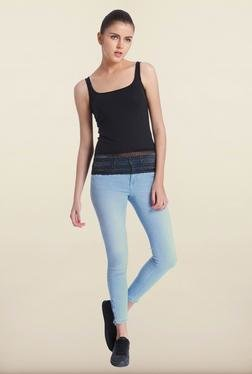 Only Black Cotton Solid Top
