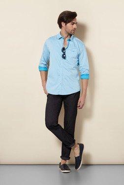 Killer Light Blue Slim Fit Casual Shirt