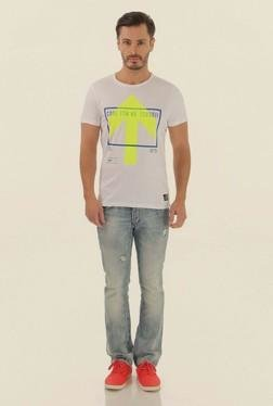 Jack & Jones White Printed Crew Neck T-Shirt - Mp000000000061620