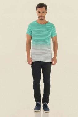 Jack & Jones Mint Green Striped Crew Neck T-Shirt