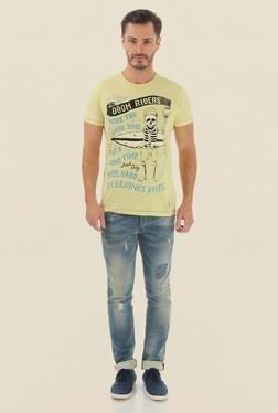 Jack & Jones Yellow Printed Crew Neck T-Shirt - Mp000000000061616