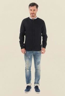 Jack & Jones Black Solid Casual Shirt - Mp000000000062213