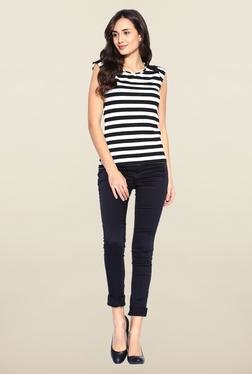 Kraus Black Cotton Casual Trouser