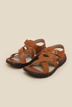 Red Tape Tan Leather Sandals