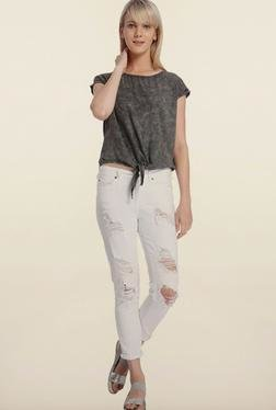 Vero Moda Grey Front Knot Top