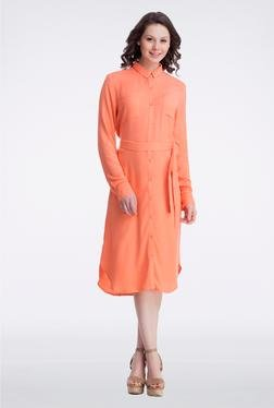 Femella Peach Long Shirt Dress