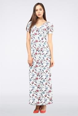 Femella White Floral Maxi Dress