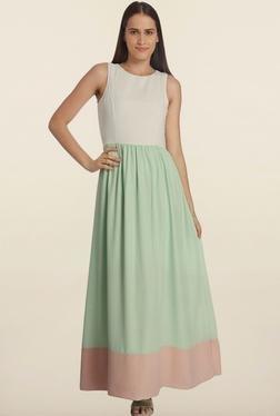 Vero Moda Mint Green & White Maxi Dress
