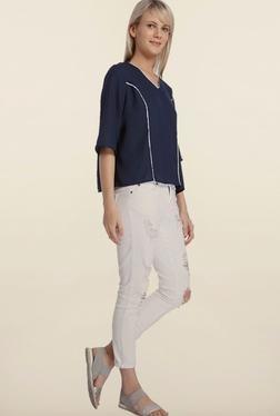 Vero Moda Navy Blue Iris Solid Top