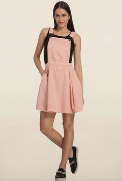 Vero Moda Pink Dungaree Dress