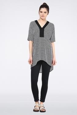 Femella Black & White Stripes Tunic