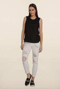 Vero Moda Black & Pink High-Low Top