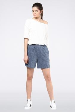 Femella Navy Blue Pique Shorts