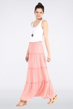 Femella Rose Pink Tier Maxi Skirt