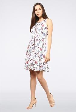Femella White Printed Dress
