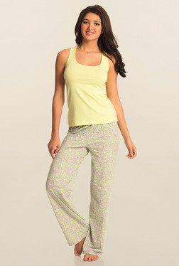 Pretty Secrets Purple And Yellow Heart Print Pajama